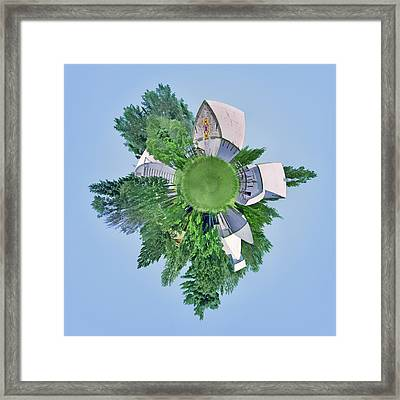 Nebraska Farm - Rural - Little Planet Framed Print by Nikolyn McDonald