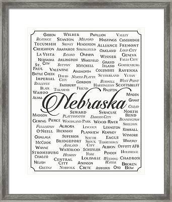 Nebraska Framed Print by Finlay McNevin