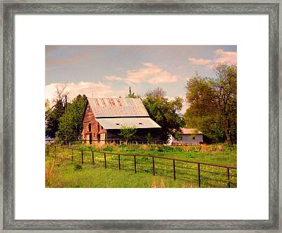 Nebraska In The Summer Afternoon Framed Print by Tyler Robbins