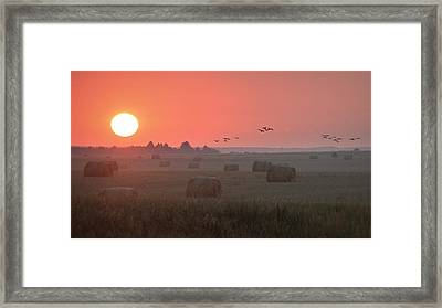 Framed Print featuring the photograph Nebraska Mornings.. by Al Swasey