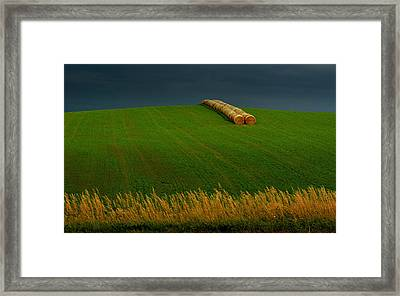 Framed Print featuring the photograph Nebraska Rainy Day by Al Swasey