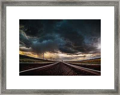 Nebraska Storm Hwy 30 Framed Print by Darren  White
