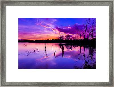Nebraska Sunset Framed Print