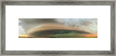 Nebraska Thunderstorm Eye Candy 020 Framed Print