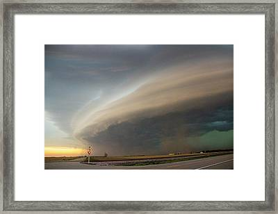 Nebraska Thunderstorm Eye Candy 026 Framed Print