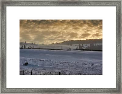 Nebraska Winter Framed Print by Donald Schwartz