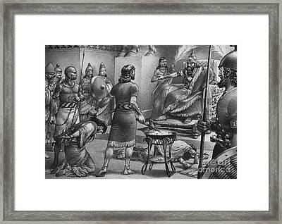 Nebuchadnezzar And Zedekiah Framed Print