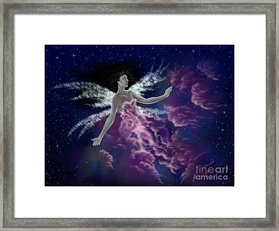 Framed Print featuring the painting Nebula by Amyla Silverflame