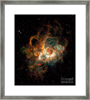 Nebula In Galaxy M33 Framed Print by Space Telescope Science Institute  NASA