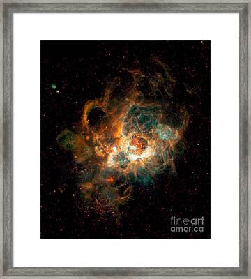 Nebula In Galaxy M33 Framed Print by Space Telescope Science Institute  NASA
