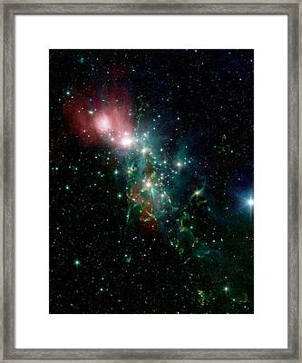 Nebula Ngc 1333 In The Constellation Perseus Framed Print by American School