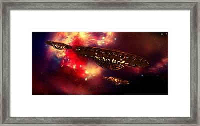 Nebula Rising By Raphael Terra Framed Print