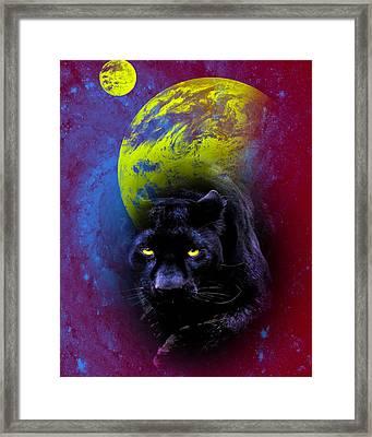 Nebula's Panther Framed Print