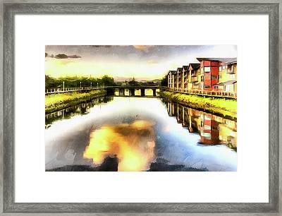 Framed Print featuring the photograph Necanium River Seaside by Thom Zehrfeld