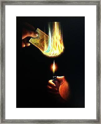 Necessary Evil Framed Print by Michael Errigo