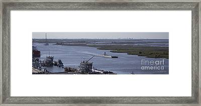 Neches River Shipping Industry Framed Print by D Wallace