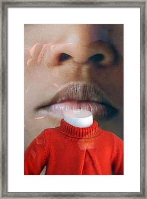 Neck Kiss Framed Print by Jez C Self