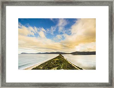 Neck Of Bruny Island Framed Print by Jorgo Photography - Wall Art Gallery