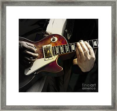 Necking The Blues Framed Print by Steven Digman