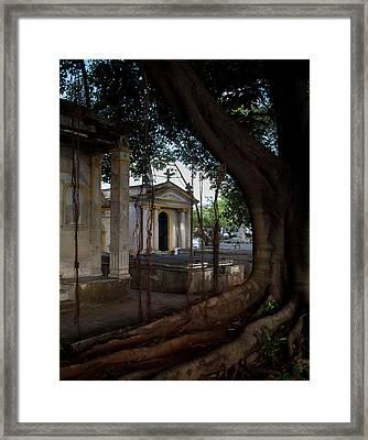 Framed Print featuring the photograph Necropolis Cristobal Colon Havana Cuba Cemetery by Charles Harden