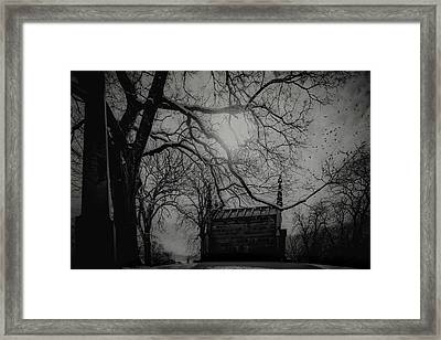 Framed Print featuring the digital art Necropolis Nine by Chris Lord