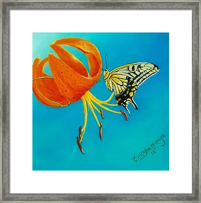 Framed Print featuring the painting Nectar  by Christie Minalga