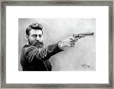 Ned Kelly Drawing Framed Print