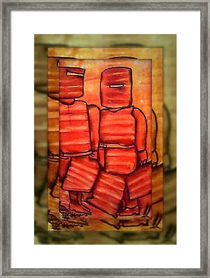 Ned Kelly Gang Art - Sunset Killers Framed Print by Joan Kamaru
