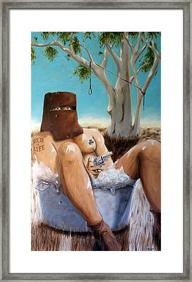 Ned Kelly Framed Print by Matthew Lake