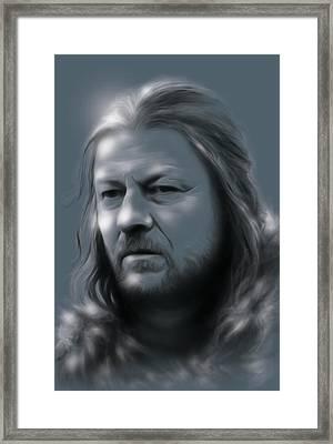 Ned Stark Framed Print