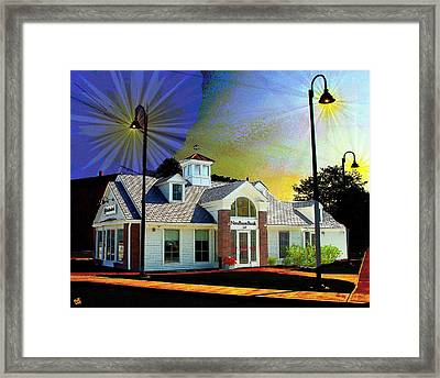 Needham Bank Ashland Ma Framed Print
