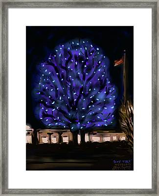 Needham's Blue Tree Framed Print by Jean Pacheco Ravinski