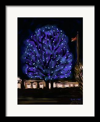 New England Winter Digital Art Framed Prints