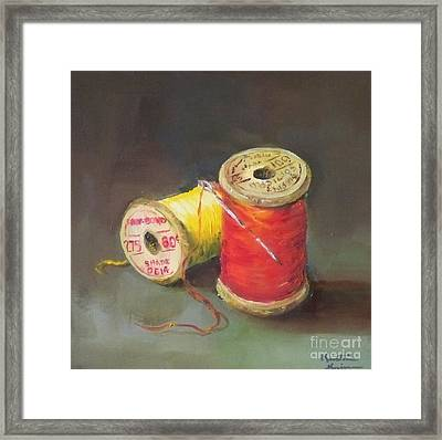 Needle And Thread No. 2 Framed Print by Kristine Kainer