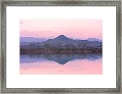 Needle In A Haystack Mountain Framed Print