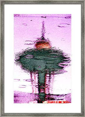 Needle In A Raindrop Stack 2 Framed Print by Tim Allen