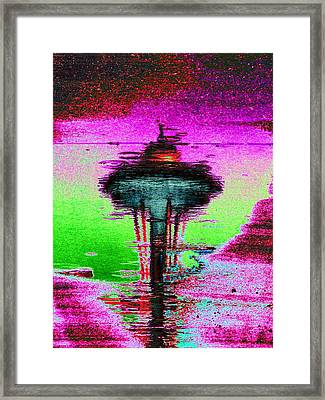 Needle In A Raindrop Stack Framed Print by Tim Allen