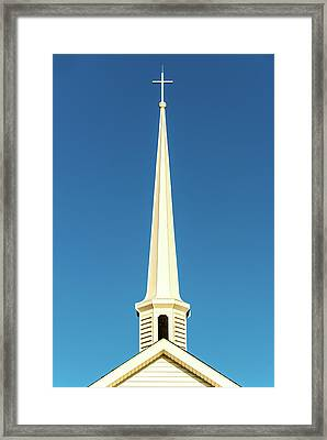 Framed Print featuring the photograph Needle-shaped Steeple by Onyonet  Photo Studios