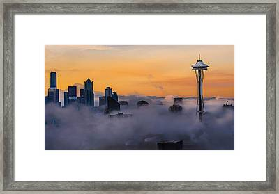 Needling The Fog Framed Print