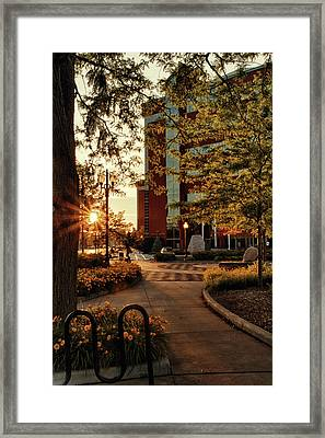 Framed Print featuring the photograph Neenah Center Sunset by Joel Witmeyer