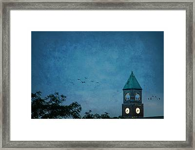 Framed Print featuring the photograph Neenah Clocktower by Joel Witmeyer