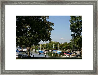 Neenah Harbor Framed Print by Jack G  Brauer