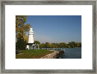 Framed Print featuring the photograph Neenah Light House by Jack G  Brauer