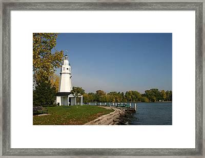 Neenah Light House Framed Print by Jack G  Brauer