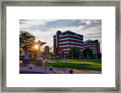 Framed Print featuring the photograph Neenah Riverwalk by Joel Witmeyer