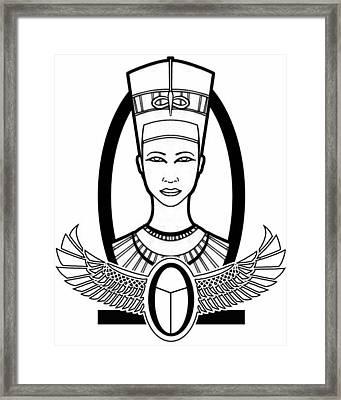 Nefertiti Framed Print by Alysa Sheats