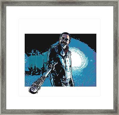 Framed Print featuring the digital art Negan by Antonio Romero