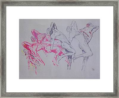 Negative Evolution Framed Print by Contemporary Michael Angelo
