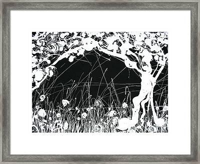 Negative Landscape Framed Print by Ric Bascobert