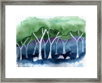 Negative Thinking Makes A Woodland Scene Framed Print